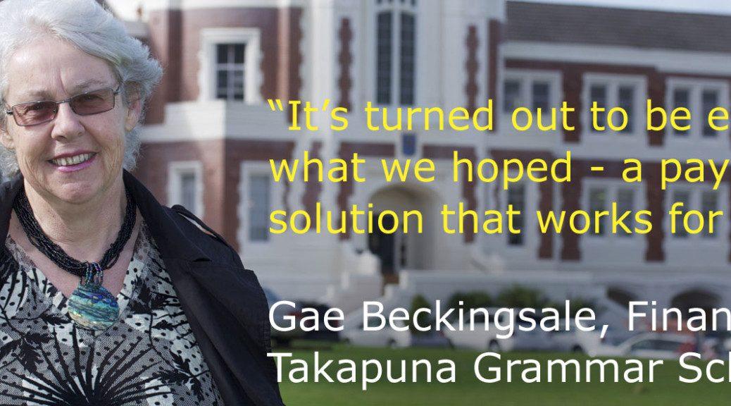 Takapuna Grammar School finds payment solution